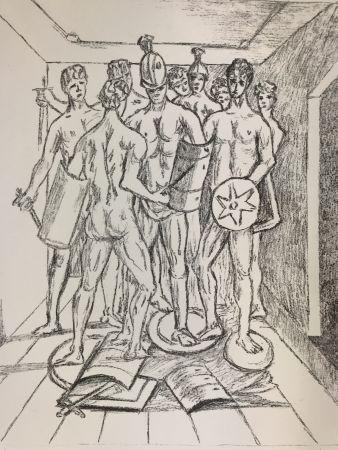 Lithograph De Chirico - I gladiatori