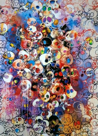 Lithograph Murakami - I have left my love far behind... Their smell, every Memento