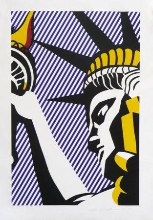 Screenprint Lichtenstein - I Love Liberty