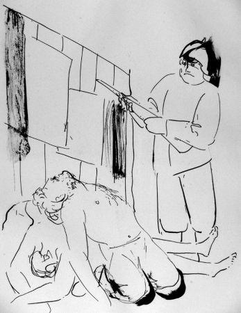 Lithograph Manzu - I martiri di Piazza Loreto