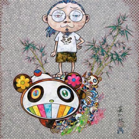 Screenprint Murakami - I Met A Panda Family