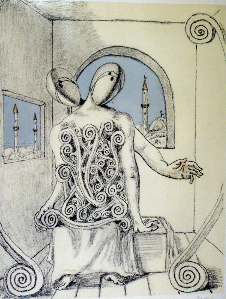 Lithograph De Chirico - I miei amici orientali