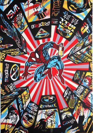 Screenprint Speedy Graphito - I Spray My City (Spiderman)