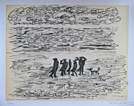 Lithograph Fellini - I VITELLONI - Lithographie Originale / Original Lithograph / Litografia Originale