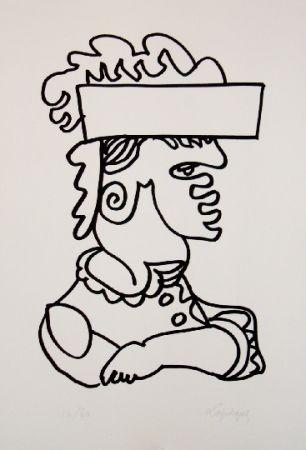 Lithograph Lapicque - Iago