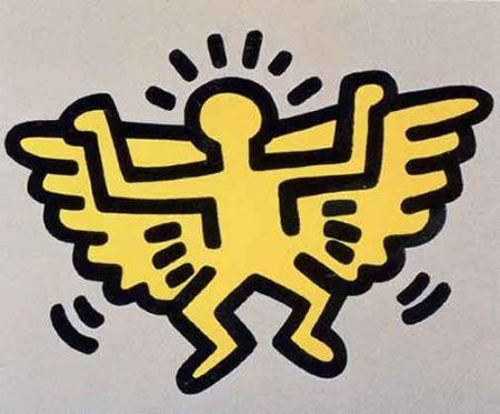 Screenprint Haring - Icons (Angel)