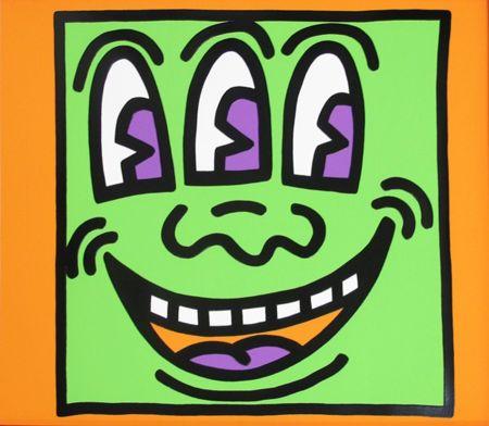 Screenprint Haring - Icons (E) - Three Eyed Man