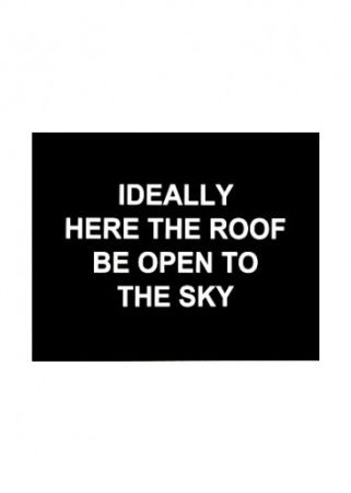 Etching Prouvost  - Idealy here the roof be open to the sky