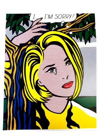 Lithograph Lichtenstein - I...I'm sorry