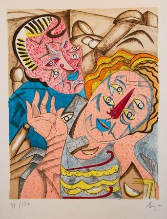 Lithograph Baj - Il Bacio I