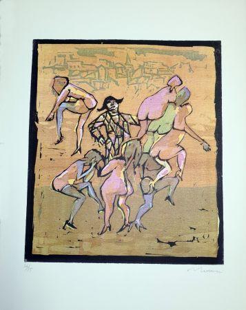 Linocut Maccari - Il balletto