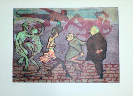 Linocut Maccari - Il ballo