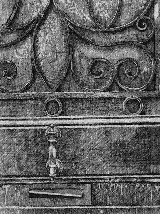 Engraving Cacciarini - Il cancello