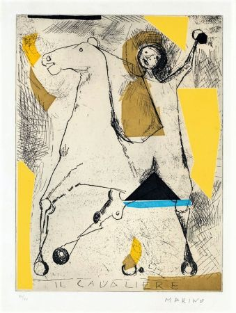 Etching And Aquatint Marini - Il cavaliere
