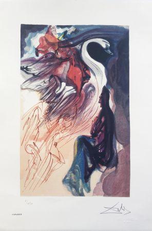 Lithograph Dali - Il Cigno INTERGRAFICA 38X56