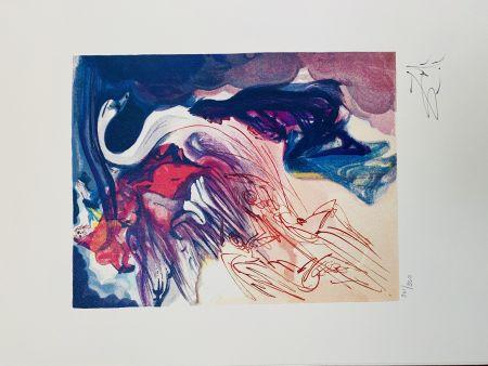 Lithograph Dali - Il cigno (La Divina Commedia)