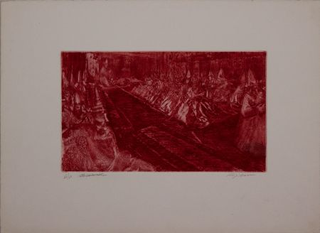 Etching And Aquatint Sassu - Il Concilio