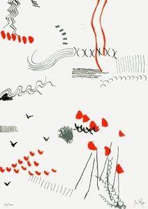 Lithograph Griffa - Il figlio dell'osso parla