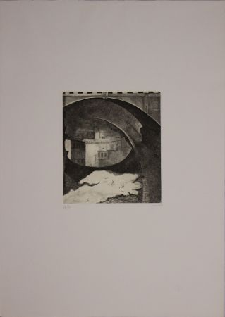 Etching And Aquatint Janich - Il fiume