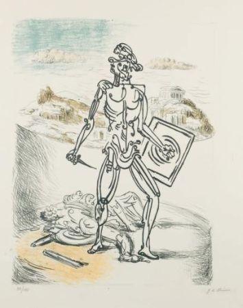Lithograph De Chirico - Il Gladiatore