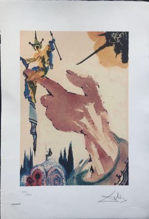 Lithograph Dali - Il Mago sul Dito INTERGRAFICA 38X56