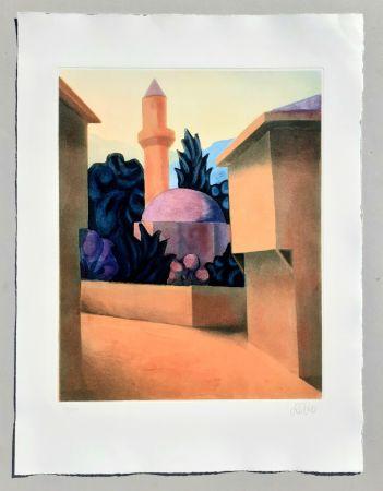Aquatint Salvo - Il minareto