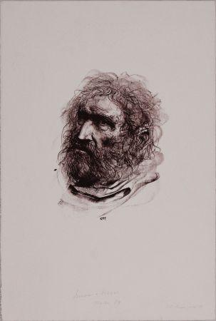 Lithograph Annigoni - Il pescatore