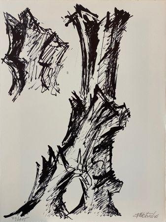 Lithograph Wotruba - Il pleuvait