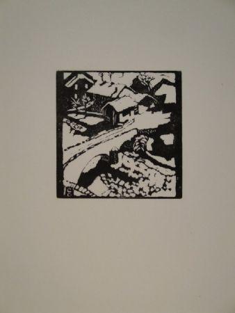 Woodcut Giacometti - Il ponte al sole, die Brücke in Stampa