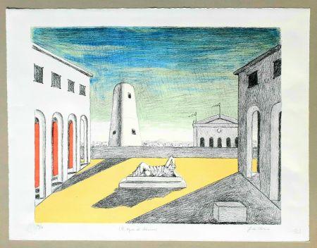 Lithograph De Chirico - Il riposo di Arianna