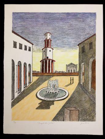 Lithograph De Chirico - Il Segreto Della Fontana