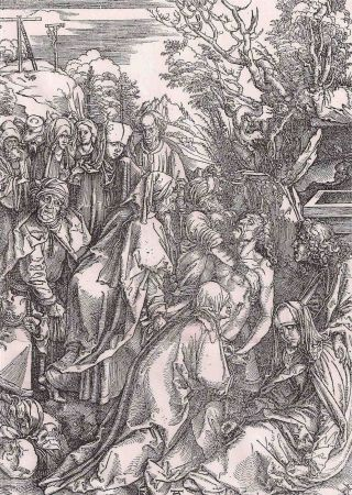 Etching Durer - Il seppellimento