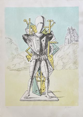 Lithograph De Chirico - IL TROVATORE