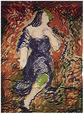 Lithograph Chia - Il Trovatore (1984)