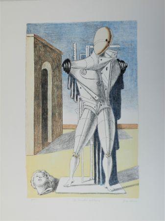 Lithograph De Chirico - Il trovatore solitario