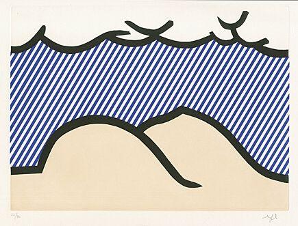 "Etching And Aquatint Lichtenstein - Illustration For ""De Denver Au Montana, Départ 27 Mai 1972"" (I)"