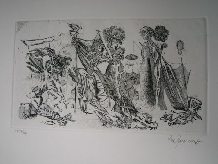 Etching And Aquatint Zimmermann - Im Atelier des...  II