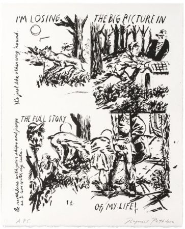 Lithograph Pettibon - I'm Losing The Big Picture In The Full Story Of My Life