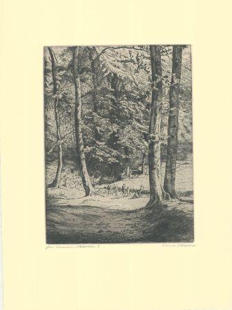 Etching Kätelhön - Im Wald