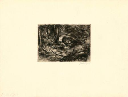 Etching Fuchs - Im Wald
