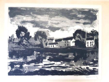 Lithograph Vlaminck - Image : 23,5 x 32 cm