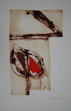 Lithograph Guinovart - IMAGTES I TERRA V