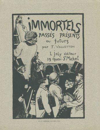 Lithograph Vallotton - Immortels passés, présents ou futurs