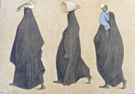 Lithograph Zuniga - Impressions of Egipto (Egypt) plate 10