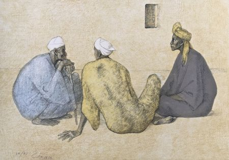 Lithograph Zuniga - Impressions of Egipto (Egypt) plate 6