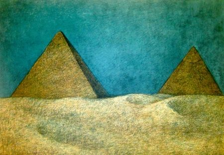 Lithograph Zuniga - Impressions of Egypt Suite, Plate 10