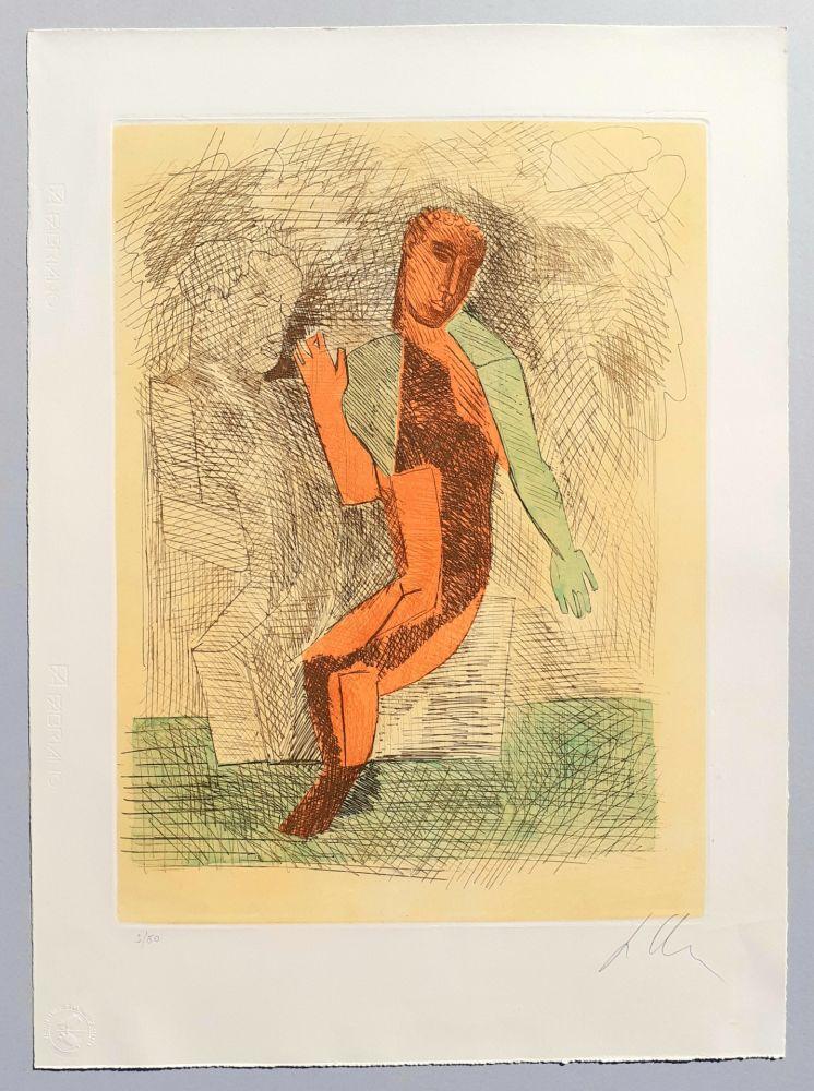 Etching And Aquatint Chia - Improvvisazioni su Leonardo (C)