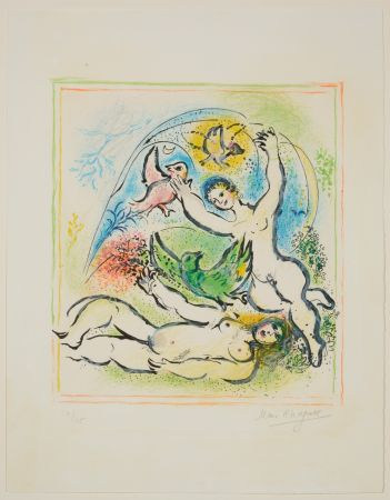 Lithograph Chagall - In the Land of the Gods
