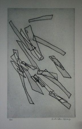 Engraving Celan Lestrange - Inachevé