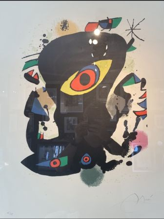 Lithograph Miró - Inauguration galerie Maeght Barcelone